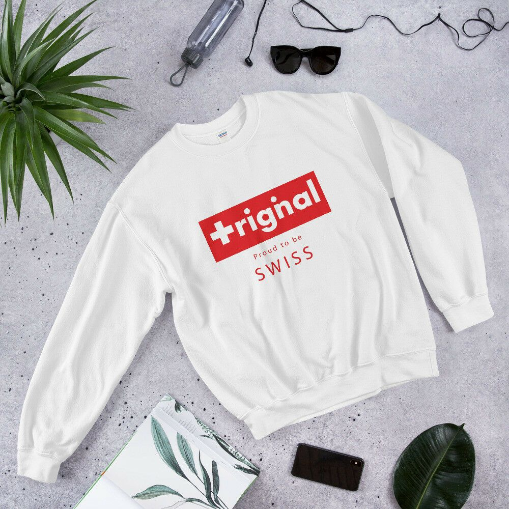 Sweatshirt proud to be swiss many colors and sizes