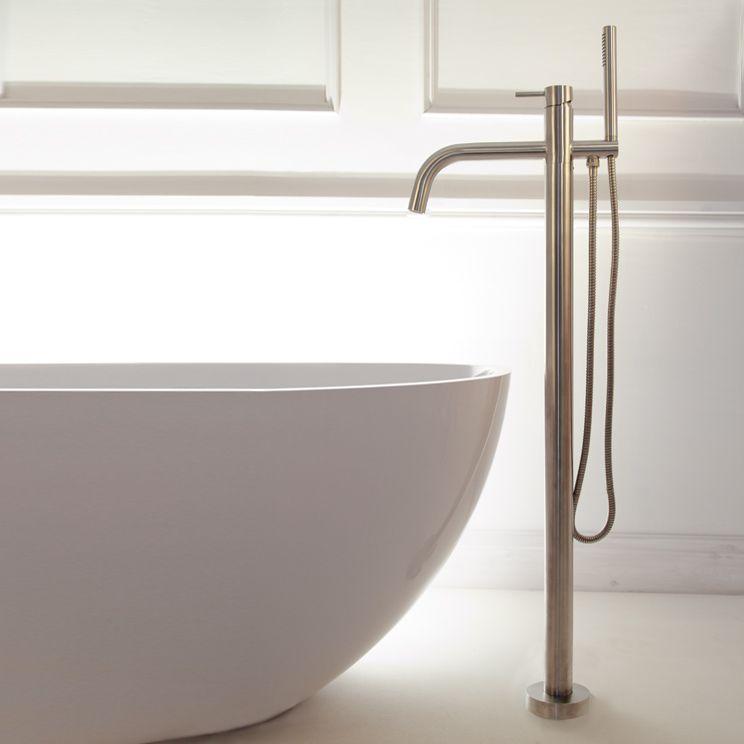 Noa Stainless Steel Freestanding Bath Tap (49F) | Bathrooms ...