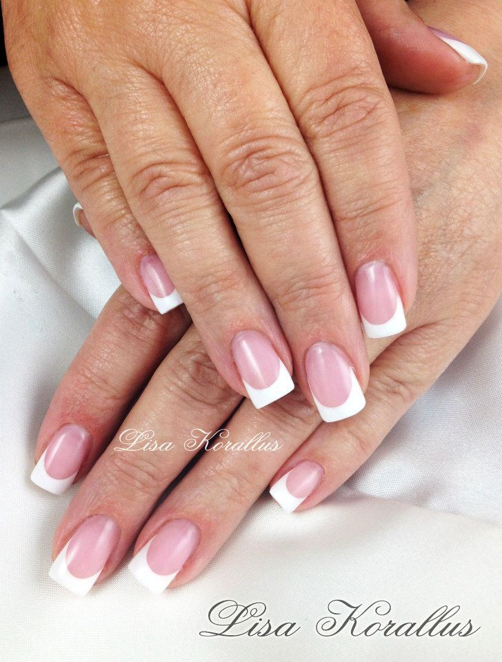 Sculpted pink and white gel enhancement. #pinkandwhites #frenchnails ...