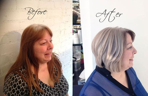 Helping Your Client Grow Out Her Natural White Gray Hair Grey Hair Treatment Gray Hair Growing Out Grey White Hair