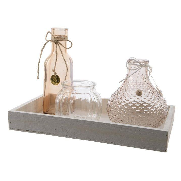 Botellas para decoraci n centro de botellas con base de for Mayorista decoracion