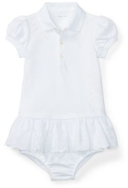 3068ac1ab8 Ralph Lauren Eyelet Polo Dress & Bloomer White 3M | Products ...