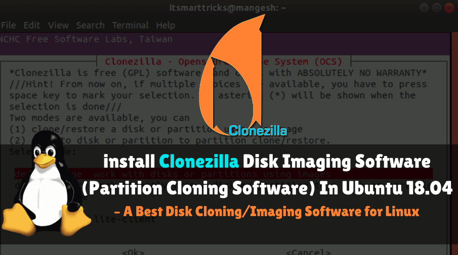 How to install Clonezilla Disk Imaging Software (Partition