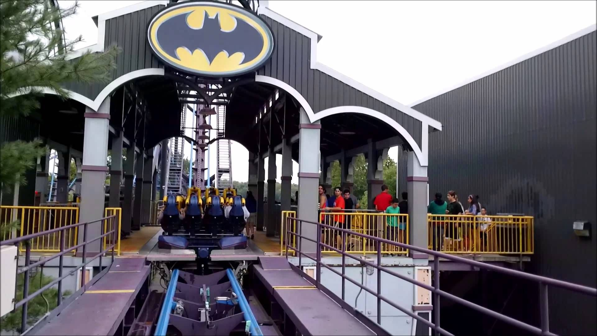 Six Flags New England Batman The Dark Knight On Ride Front Row
