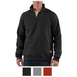 Carhartt Sweatshirt Quarter Zip Mock-Neck