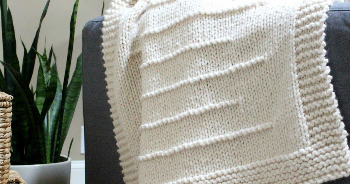State Line Blanket Knitting Pattern Updated - Now Six Sizes!