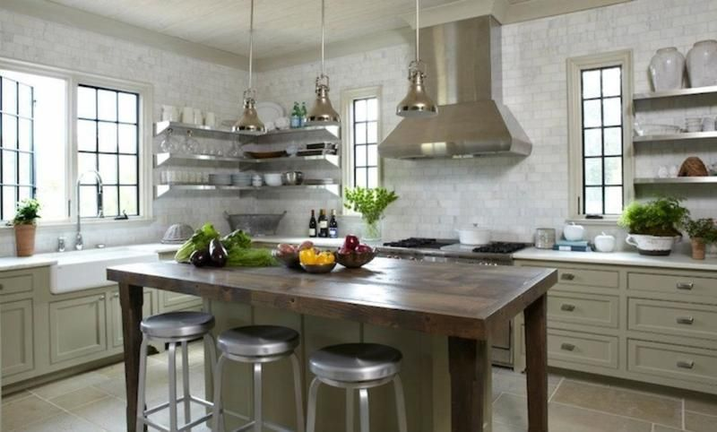 15 Dramatic Kitchen Designs With Stainless Steel Shelves  Kitchen Glamorous Kitchen Shelves Designs Design Decoration