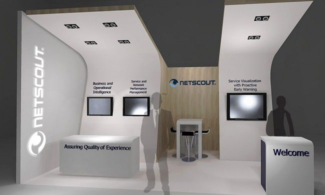 Exhibition Booth Proposal : Netscout exhibition design proposal booth