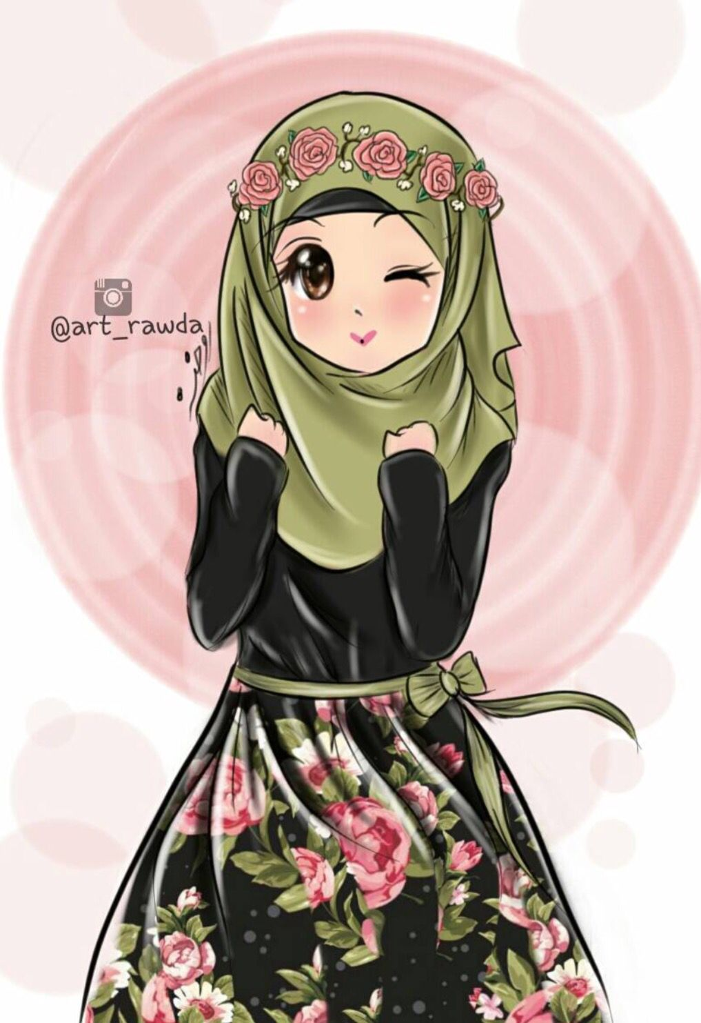 Hijab anime muslim girl anime muslimah hijab cartoon - Gambar anime girl cute ...
