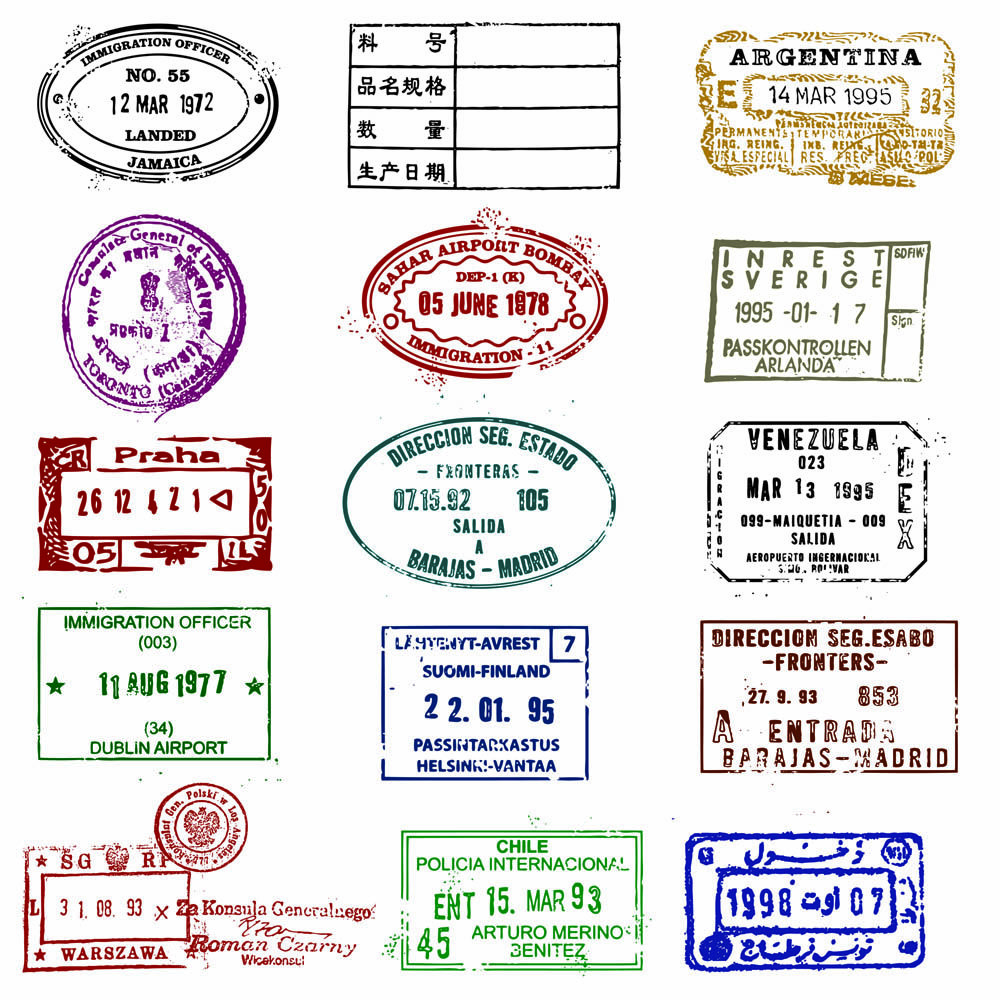 2110 views oh boy i m 1 pinterest goodie bags rh pinterest ie country passport stamps clipart passport stamps clipart png