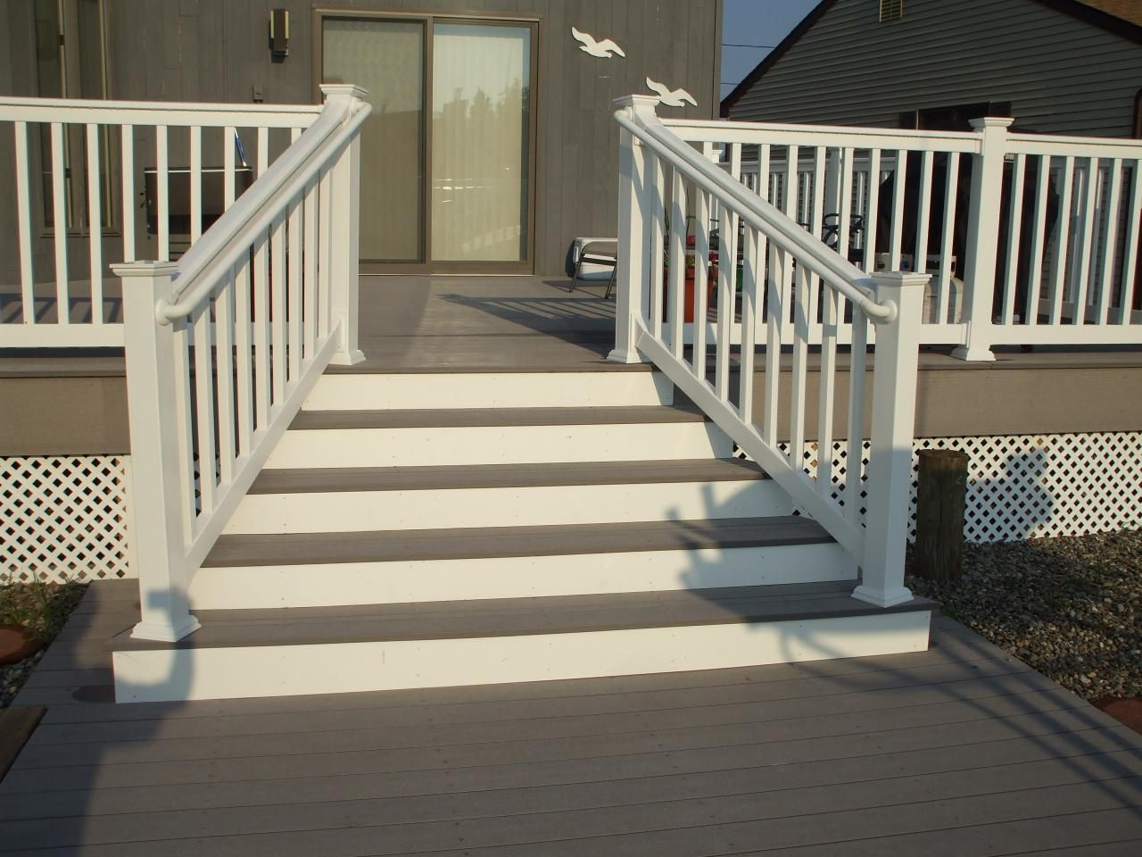 Angled stairs david j festa carpentry llc outdoors for Steps to designing a house
