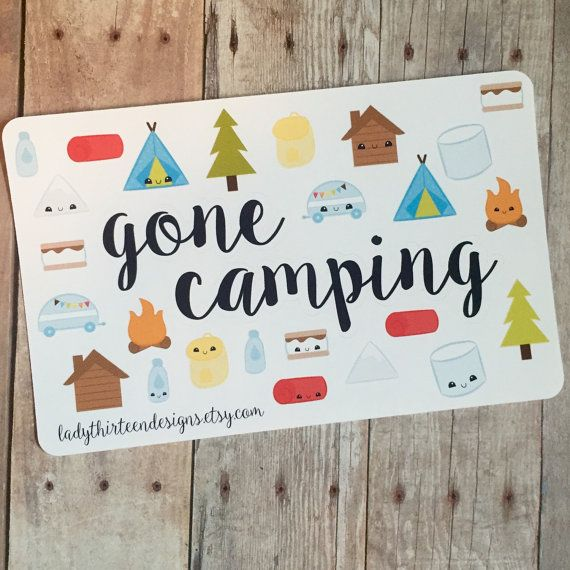 Camping planner stickers decorative Erin Condren life planner stickers camp stickers vacation