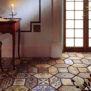 Re Edition Medieval Tile Mediterranean Floor Tiles Other