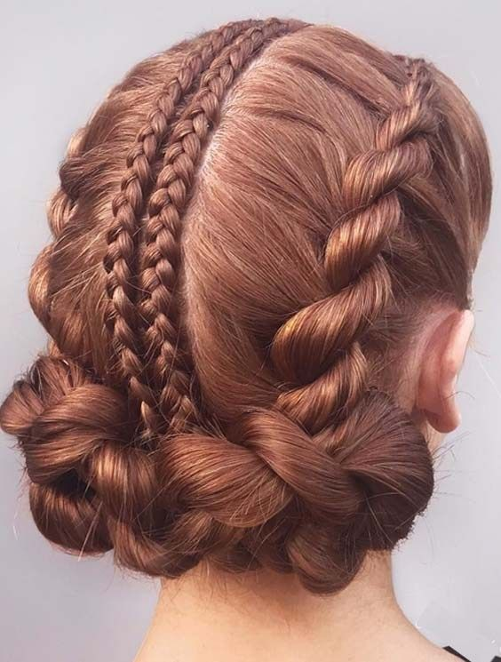 outstanding mixed braid styles