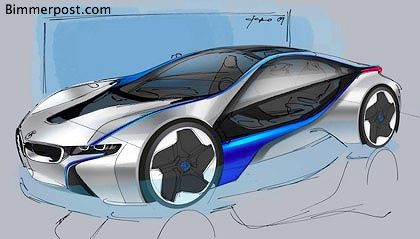 Bmw Vision Efficientdynamics Sports Car Specs Sketch Teaser