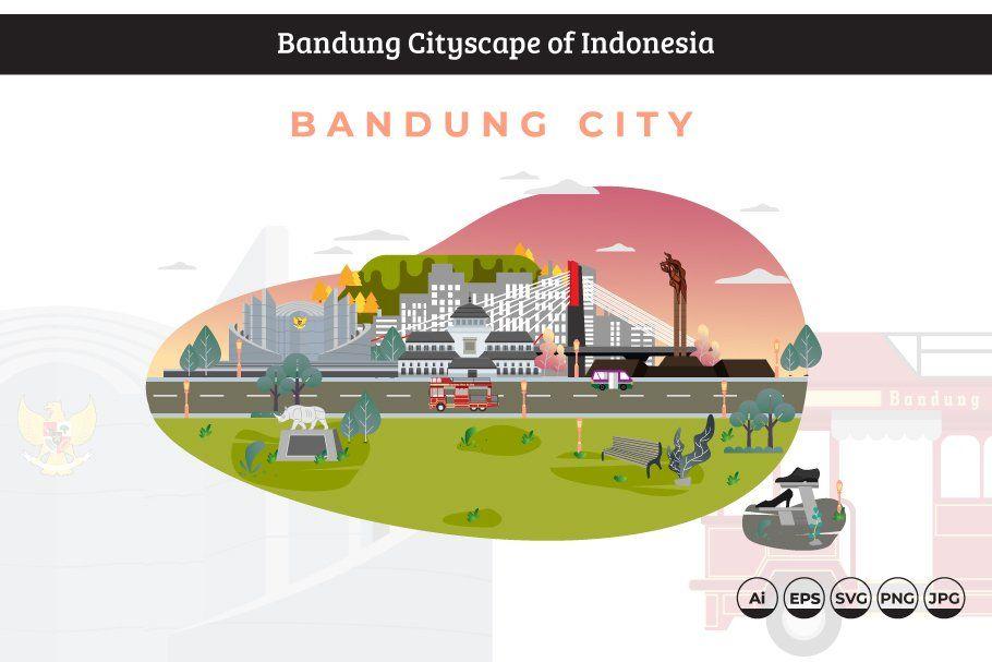 Jakarta City Icon Of Indonesia 1 Bandung City City Icon Jakarta City