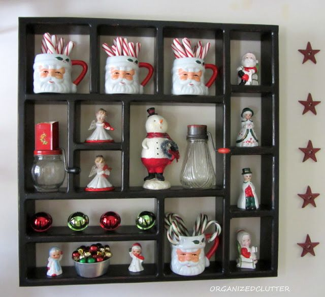 Organized Clutter: Kitchen Christmas Shadow Box