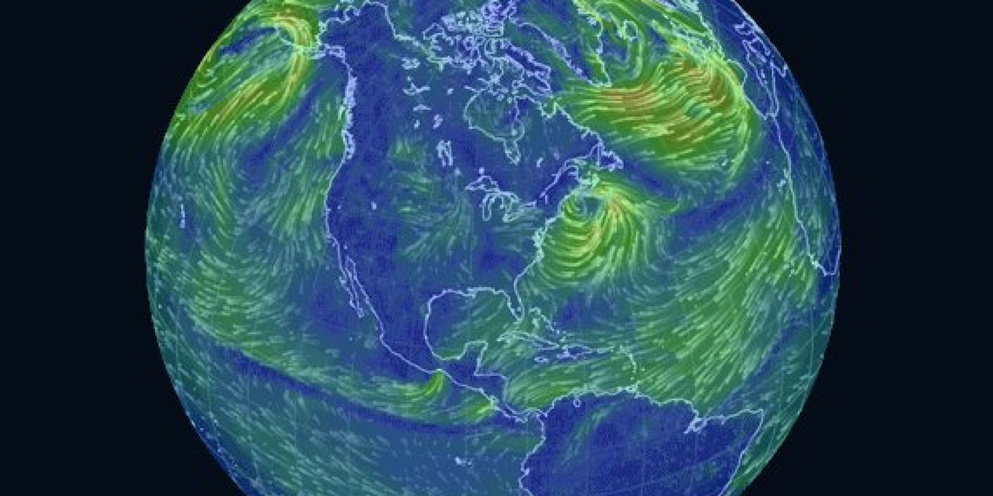Watch This Trippy Map Of Wind Patterns Is A Massive Time Suck