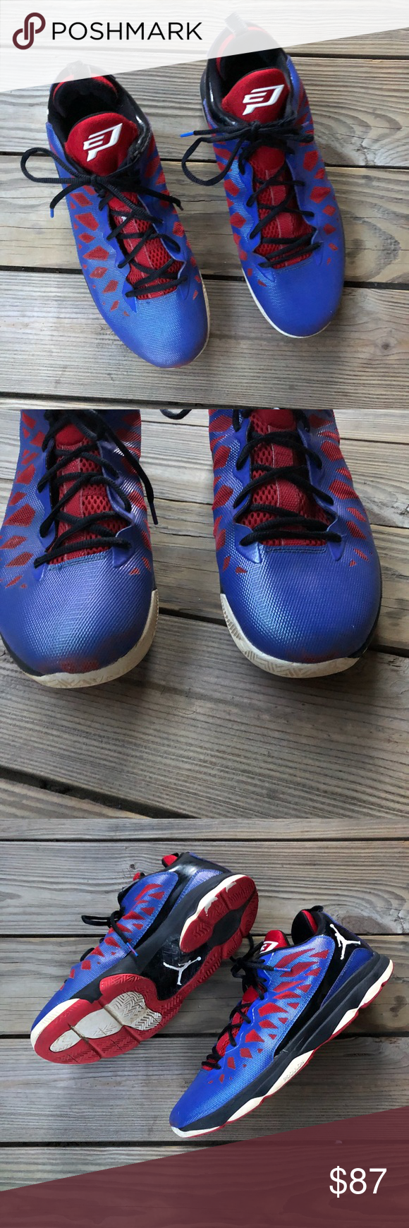 new concept cc3f4 25596 Nike Jordan CP3 VI 6 Game Royal Blue Gym Red Sz 12 Nike Jordan CP3 VI 6  Game Royal Blue Gym Red White Black Sz 12 No removable insoles Great  condition ...