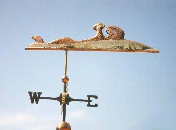 Sea Otter with Abalone Weather Vane