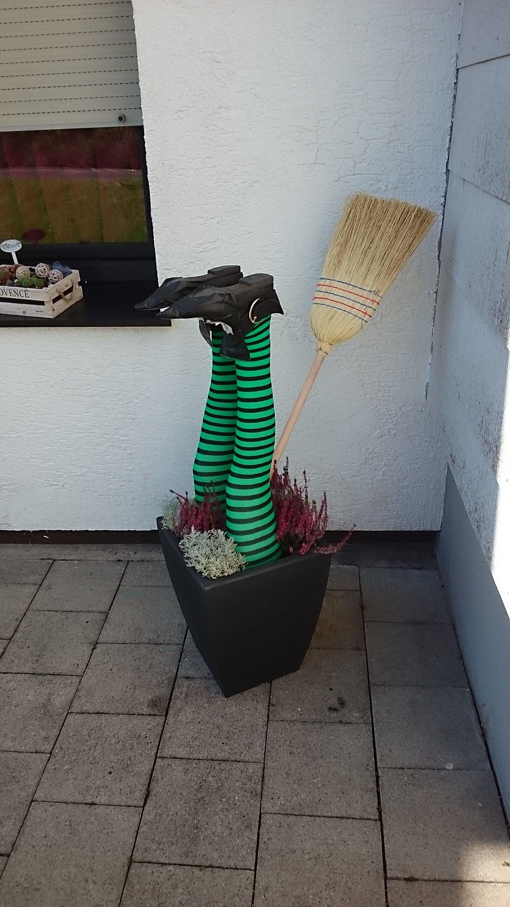 Halloween Hexe Im Topf Planter Pots Halloween Straw Bag