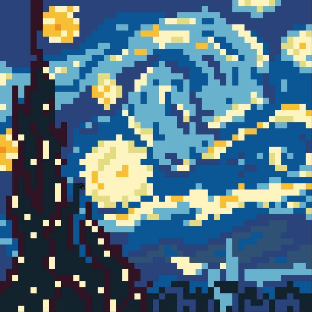 8 Bit With Some Extra Pixel Art Grid Pixel Art Pixel Art Background