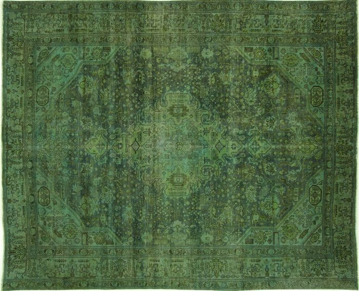 Overdyed Hand Knotted Area Rug 8 X 11 W2068 Rugs Floral Area Rugs Area Rugs