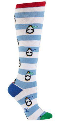 Sock It To Me Penguin Stripe Women's Knee High Socks Sock It To Me http://www.amazon.com/dp/B00ECG4RC0/ref=cm_sw_r_pi_dp_B-WWtb0MH24CYSNY