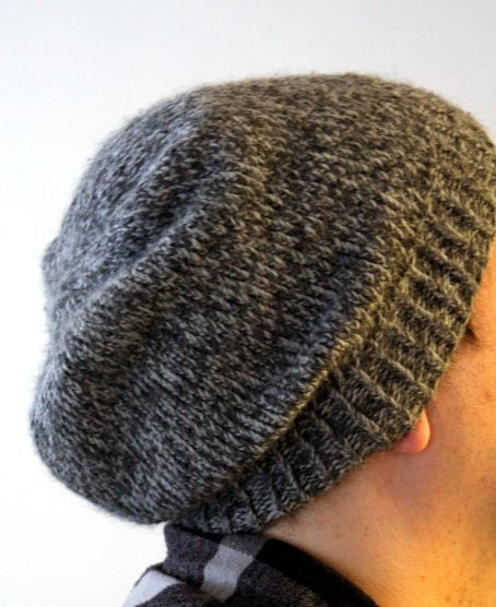 Easy Beanie Hat Knitting Pattern Free : Knit Beanie Pattern on Pinterest Knit Hat Patterns, Simple Knitting and Beg...
