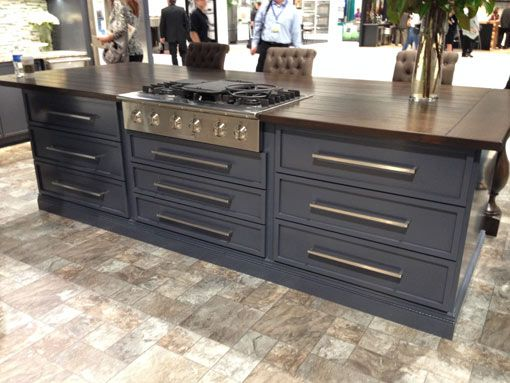 Navy Blue Kitchen Cabinets Then There S This Muted Grey Blue Kitchen Island