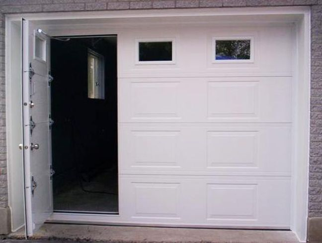 Superb garage doors with man door garden furniture for Garage door with entry door