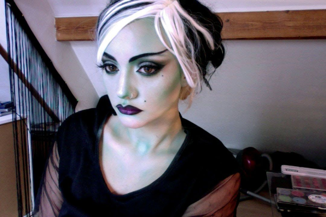 Halloween Makeup Lily Munster Inspired Look Retro Horror Movie 60S ... Halloween Makeup Lily Munster Inspired Look Retro Horror Movie 60S ... Halloween Makeup 60s halloween makeup