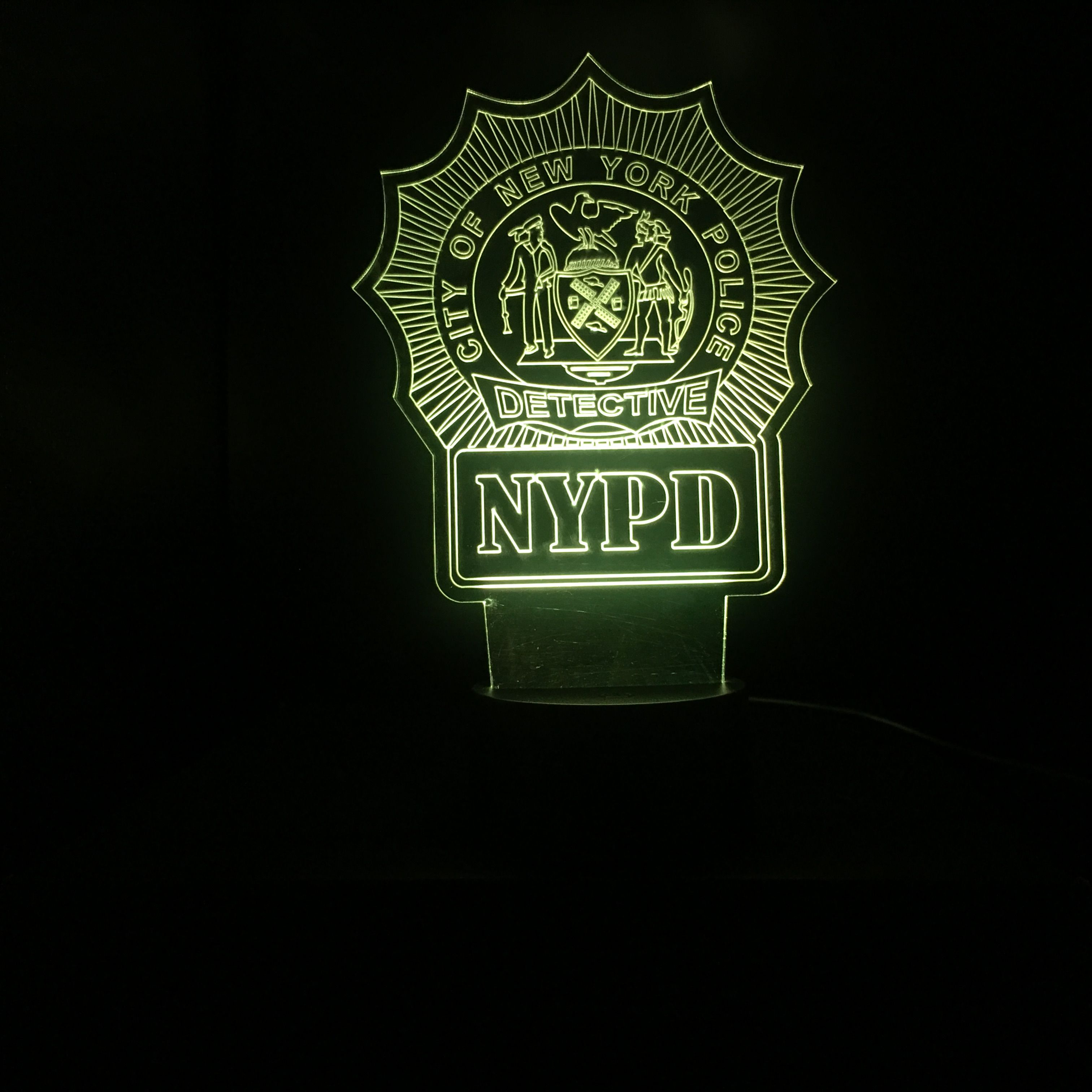 New York Police Detective Gift Light Nypd Etsy Detective Gifts New York Police Police Detective