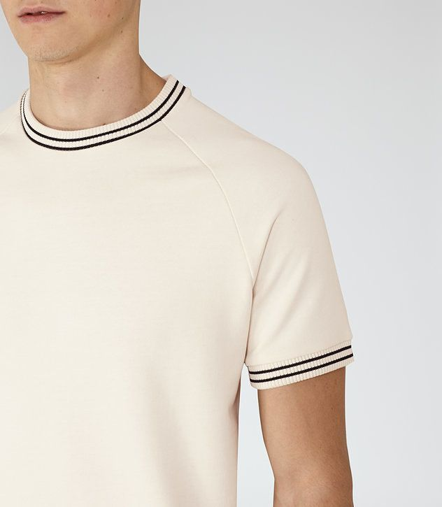 REISS HOMAGE PIPED COTTON T SHIRT   Camisas masculinas