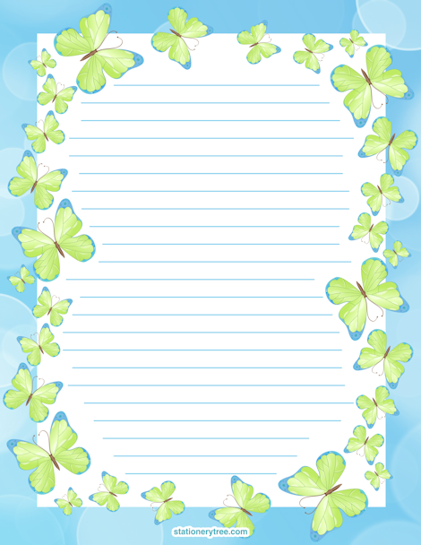 butterfly writing paper In this fun spring craft for kids, children will illustrate the butterfly life cycle right onto a paper plate this post also contains a free printable template to help get you started (this post contains affiliate links) follow our spring crafts and learning pinterest board this post was originally published on march 12, 2015 and has since been updated.
