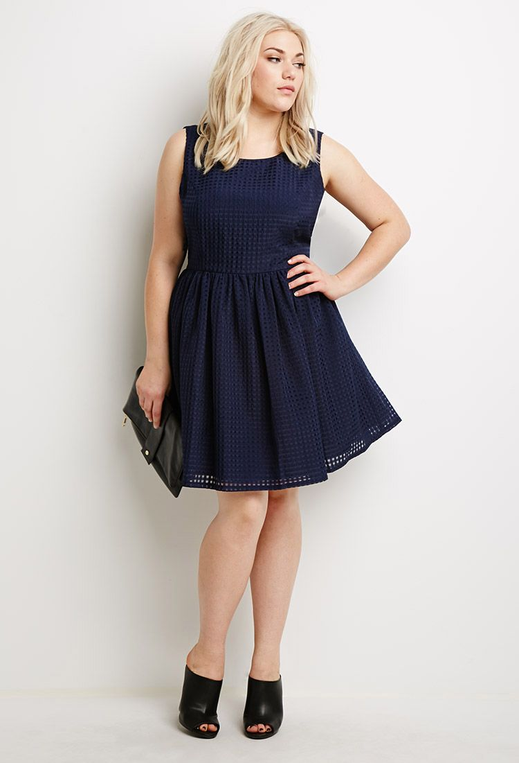 Checked fit flare dress forever 21 canada with images