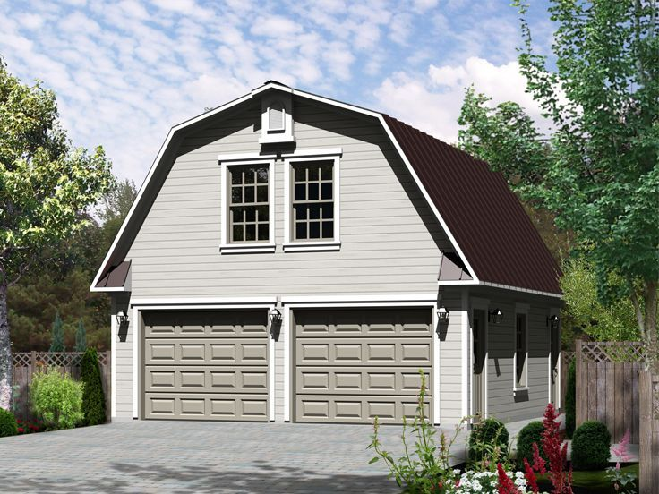 beautiful garage with studio #5: 072G-0032: 2-Car Garage Plan with Studio Apartment