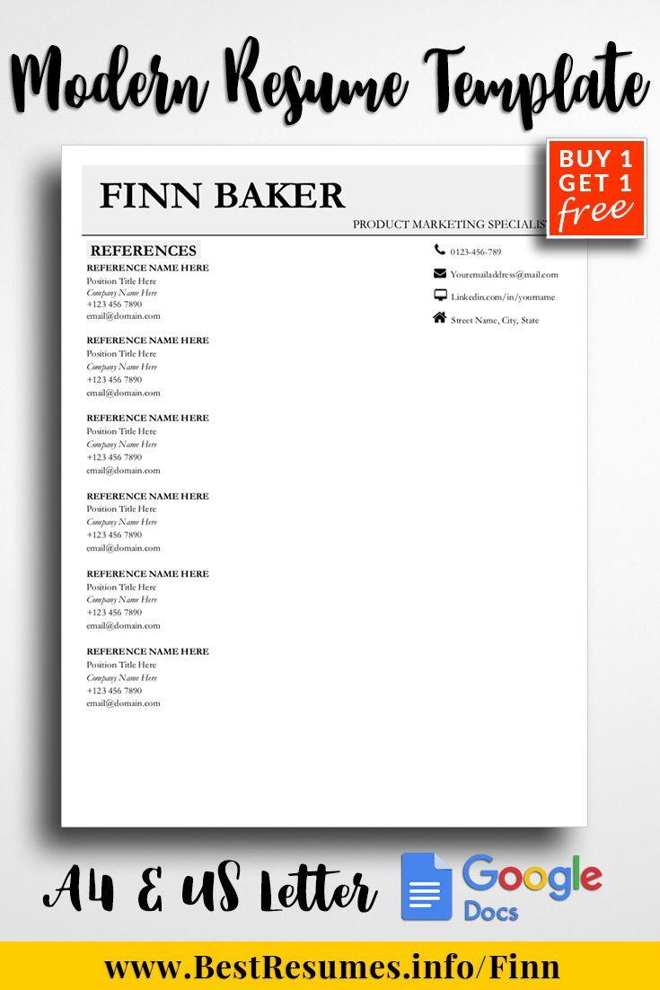 professional resume template finn baker