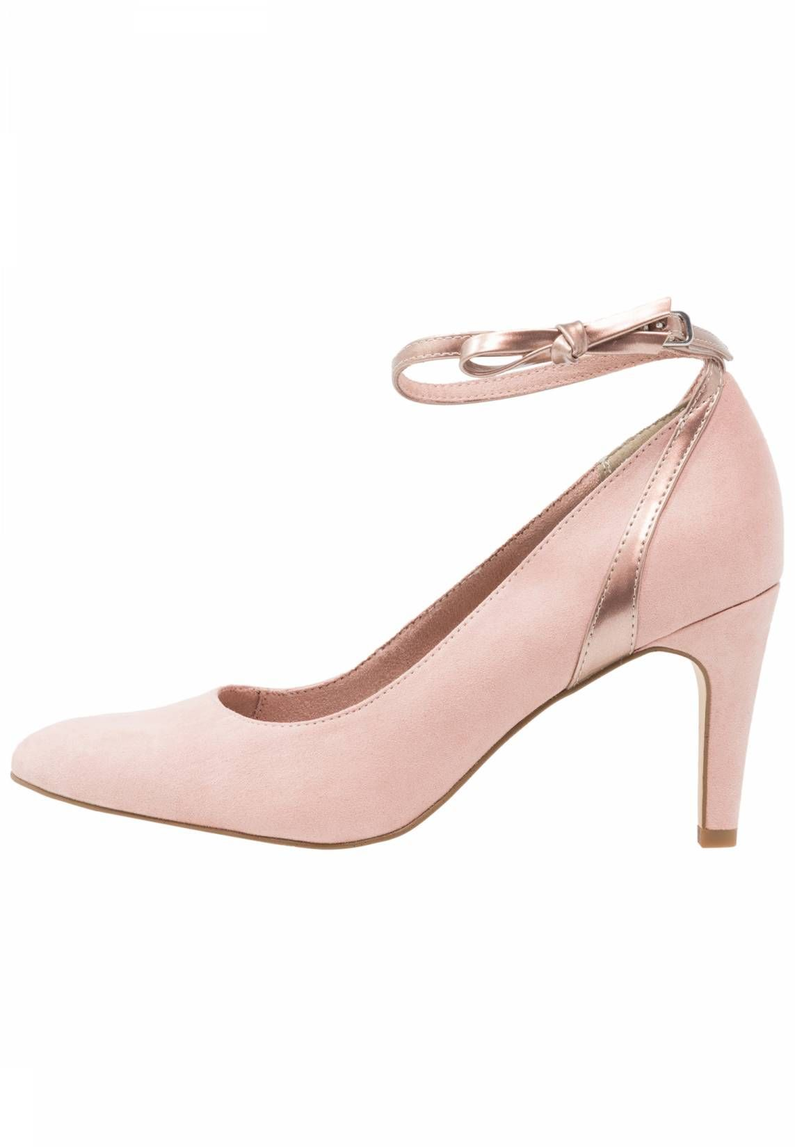 Tamaris Pumps Rose Rose Metallic Sohle Kunststoff Decksohle Lederimitat Innenmaterial Textil Details Zierschl Schuhe Mit Absatz Pumps Rose Tamaris Pumps