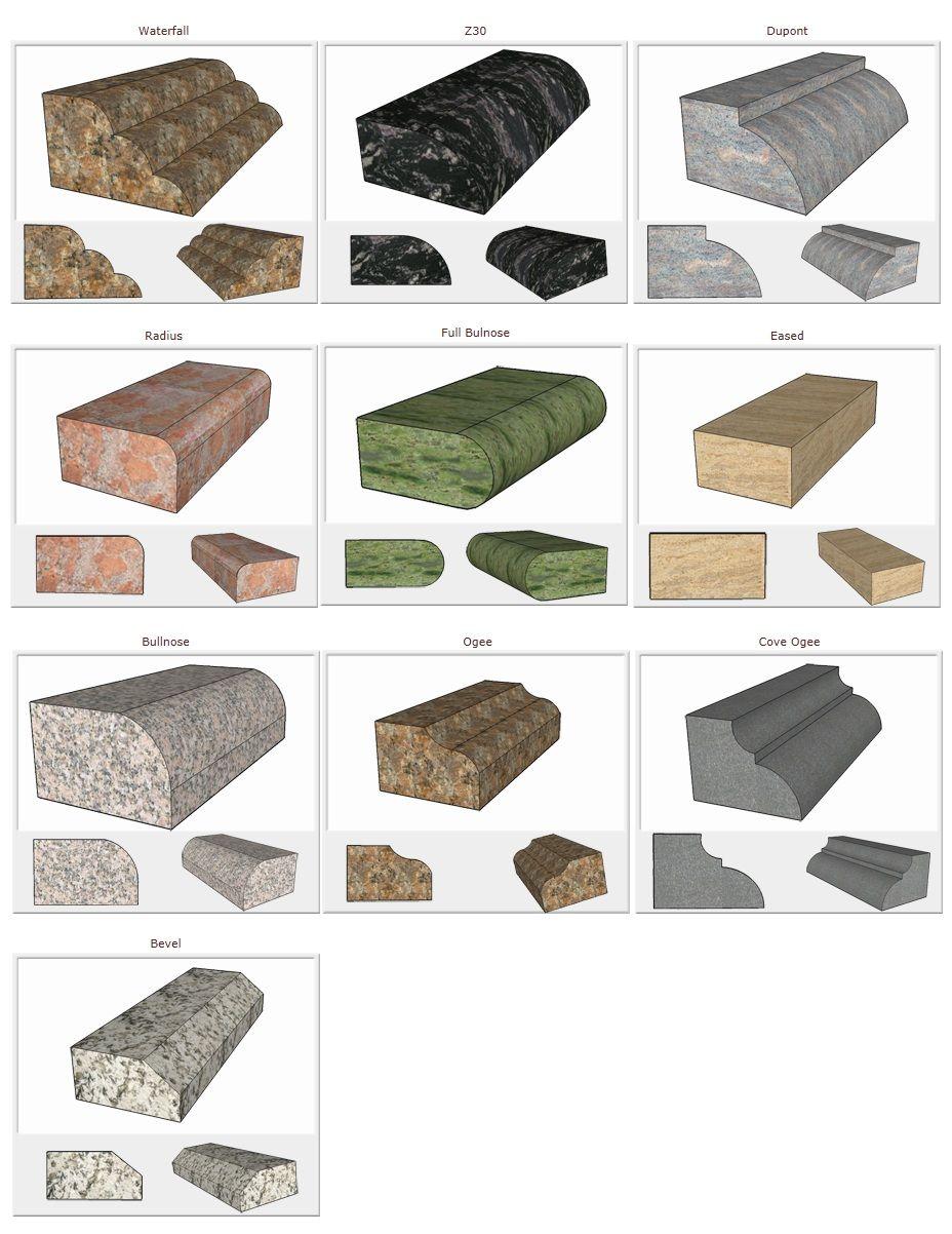 Most Common Granite Countertop Edge Invitation Templates