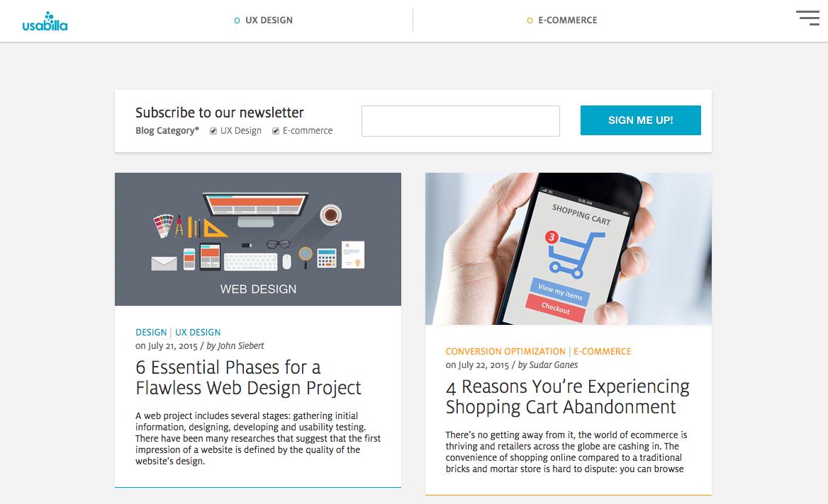 Usabilla Blog | Web design projects, Blog categories, Web design