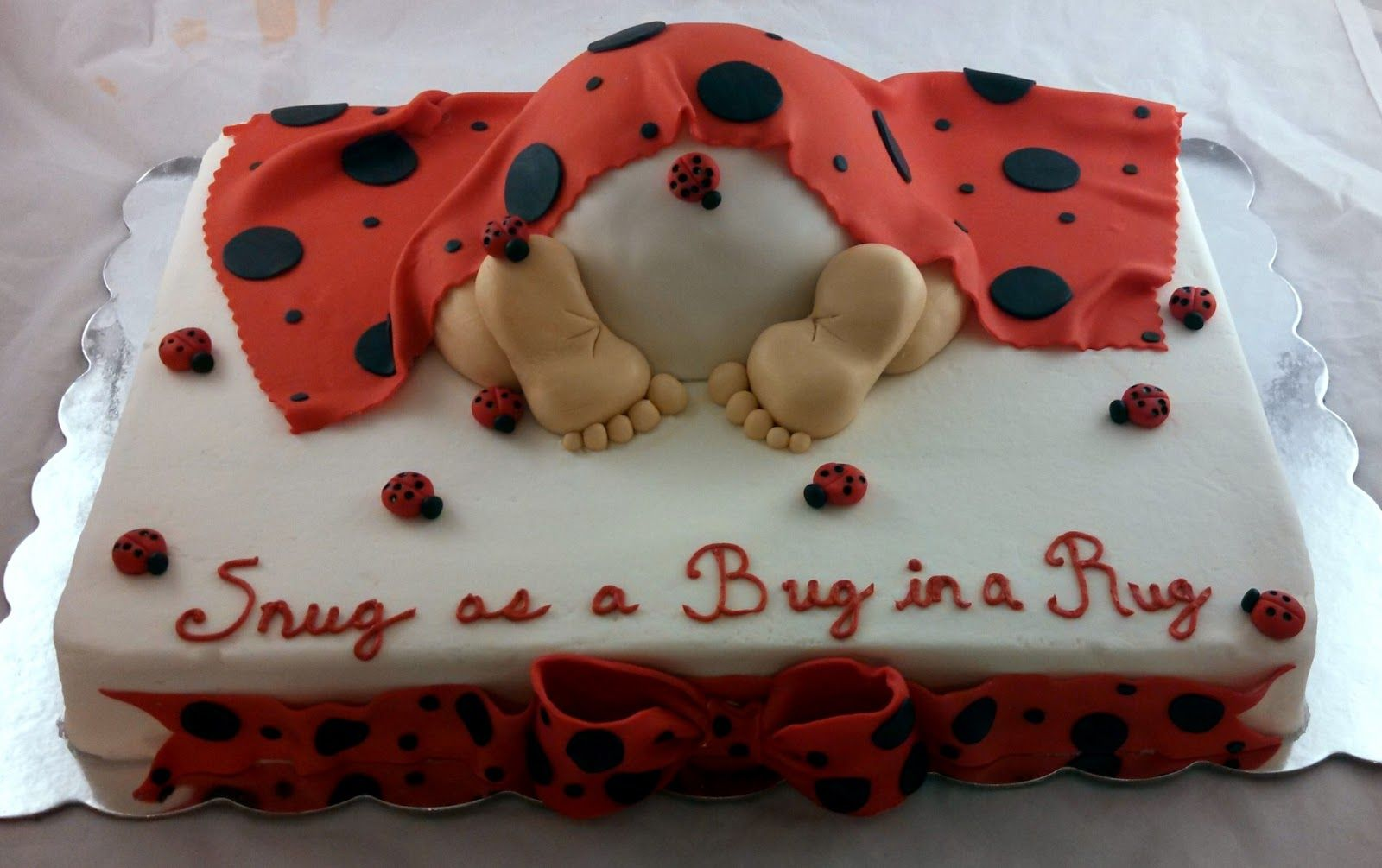 Ladybug Baby Shower Cake   Google Search