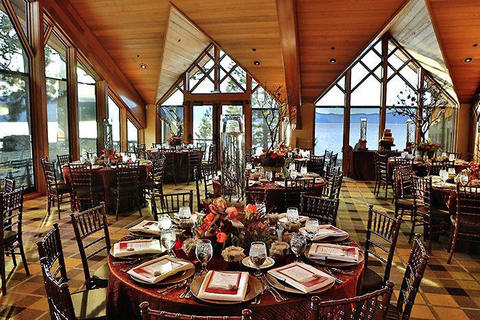 What A Gorgeous Wedding Reception At Edgewood Tahoe In South Lake Tahoe Edgewood Tahoe Is The Per Tahoe Wedding Venue South Lake Tahoe Weddings Edgewood Tahoe