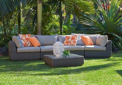 5pce Sahara Modular Wicker Lounge Setting | Occasional | Pinterest
