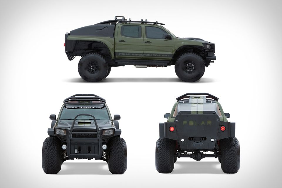 TOYOTA TACOMA POLAR EXPEDITION TRUCK - Well there's still snow out there right? This should be useful then.