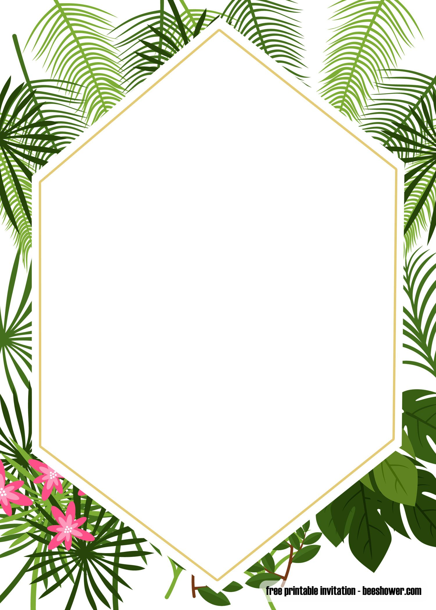 Get Free Printable Tropical Baby Shower Invitation Template