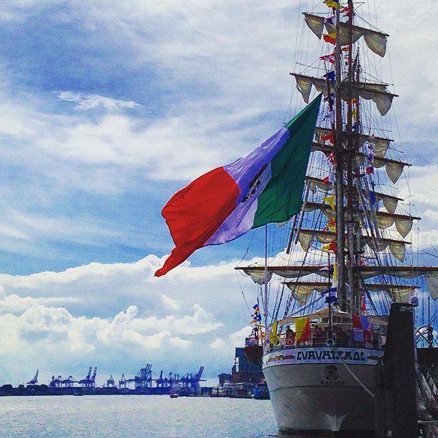 The beautiful sail training vessel of the Mexican Navy Cuauhtémoc (built 1982) visiting Hamburg.