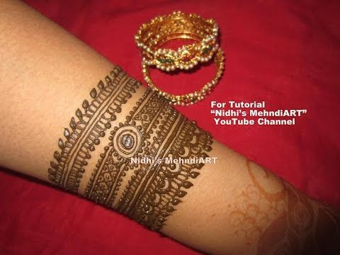 Mehndi Drawing Pictures : Gulf style floral henna mehndi designs with tutorial nidhi s art