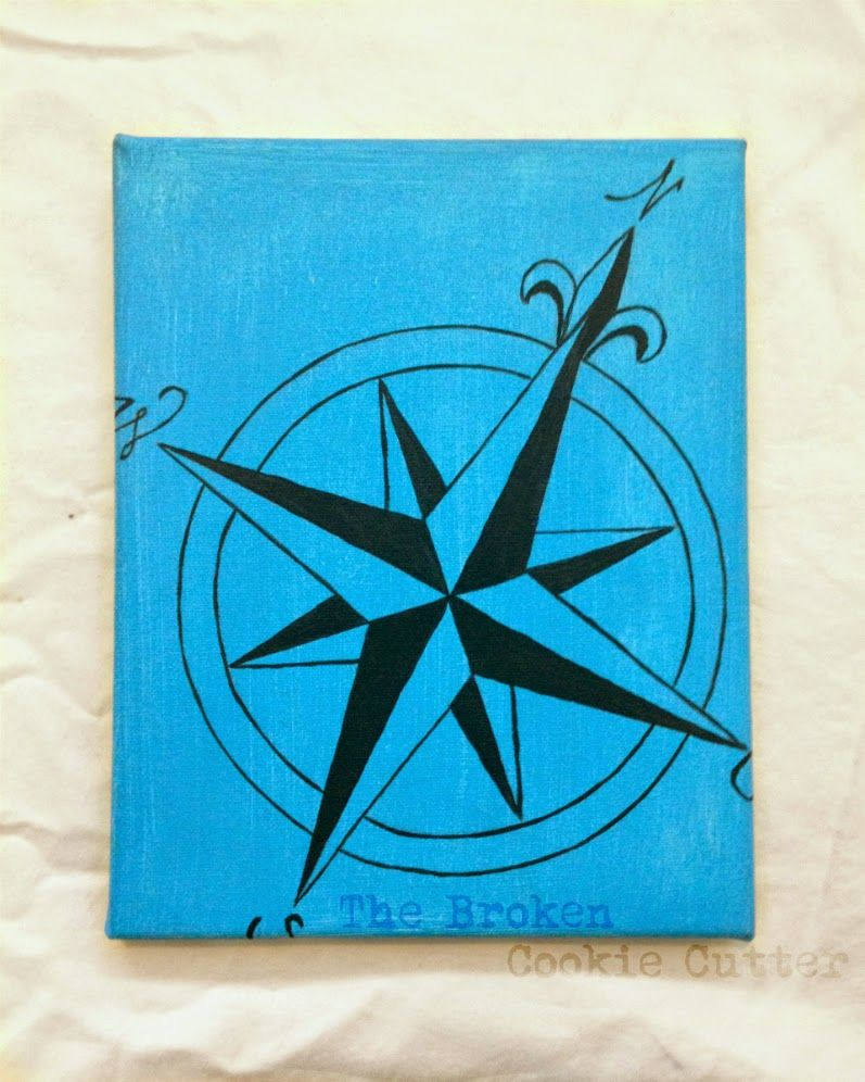 Bathroom Redecorating: Nautical themed canvas painting. Black ...