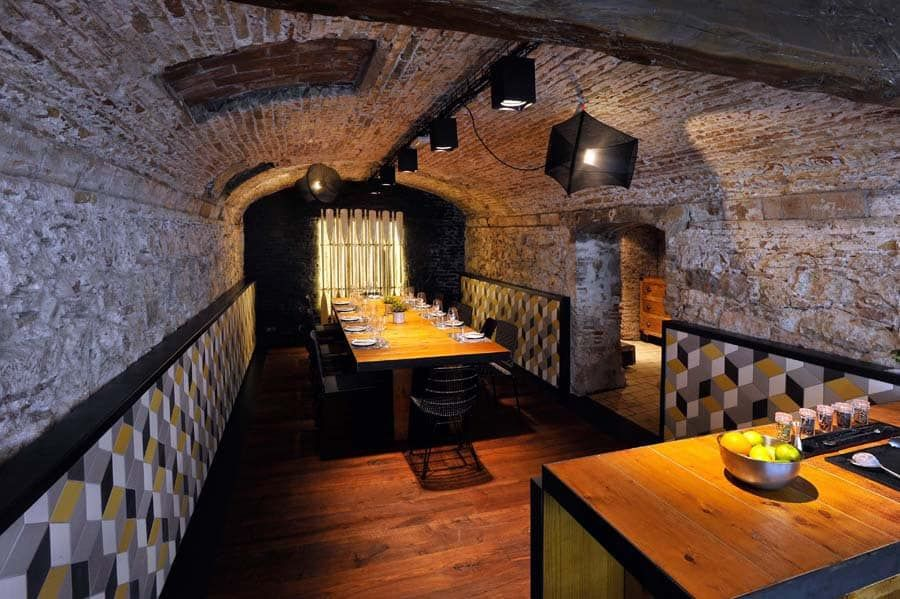 Club Gastronomico L Ostia Sala 2 Bonba Studio Espacios Homify Restaurante Rústico Suelos Rústicos Restaurantes